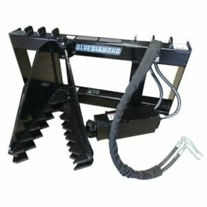 Blue Diamond Skid Steer Tree Puller Quick Attach