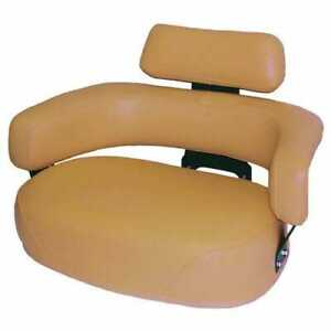 Seat Cushion Set 3 Piece Vinyl Brown Compatible With John Deere 7700 3020 4020