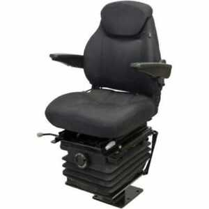 Seat Assembly Mechanical Suspension With Armrests 580 Series Backhoe Seat