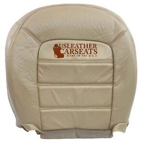 2002 Ford Explorer Driver Side Bottom Replacement Leather Seat Cover Tan