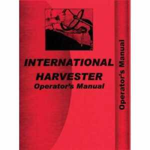 Operator s Manual H Hv International H H Hv