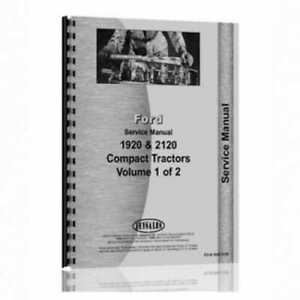 Service Manual 1920 2120 Compatible With Ford 2120 2120 1920