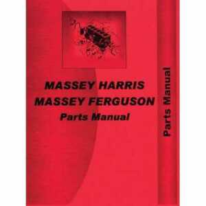 Parts Manual 275 Compatible With Massey Ferguson 275 275
