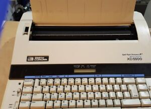 Smith Corona Xd 5500 Electric Typewriter W Carrying Case Cover Spell Right
