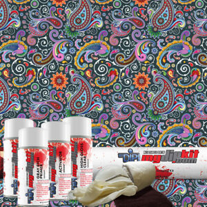 Hydro Dipping Water Transfer Printing Hydrographic Dip Kit Paisley Dd 508