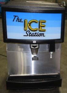 Ice Station Scotsman Is160 lf 1a Counter Top Ice Dispenser Stainless Steel