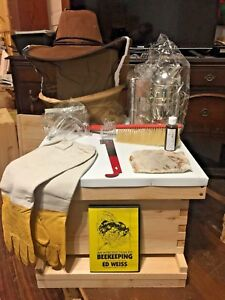Beekeeping Starter Kit With Assembled 10 Frame Beehive with Dvd In The Photo