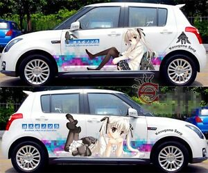 Cute Manga Anime Girl Car Graphics Decal Vinyl Sticker Set Full Color 2 Sides