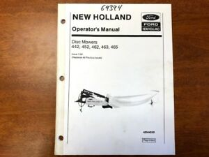 New Holland Disc Mower Owners Manual 021