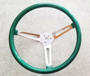 15 Mooneyes California 3 Spoke Slot Steering Wheel Green Metal Flake Gs270cmgr