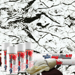 Hydro Dipping Water Transfer Printing Hydrographic Dip Kit Black Marble Ms995
