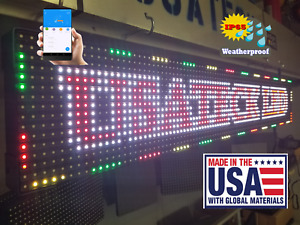 Full Color 38 x6 5 Led Sign Industrial Version made Ship From Usa
