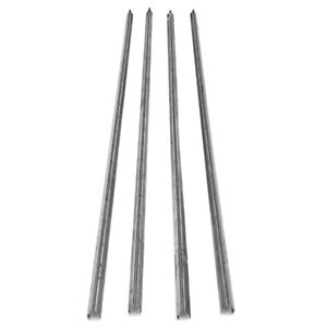4x Stainless Steel Smokehouse Smokestick V Curl Shaped With Notches 42 X 3 4