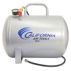 New California Air Tools 10 Gallon Portable Steel Air Tank Horizontial