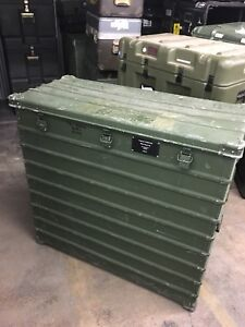 Heavy Duty Military Surplus Storage shipping Case Aluminum Box 38 x41 x19