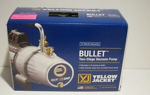 Yellow Jacket 93600 Bullet Vacuum Pump 2 stage 7 Cfm Refrigerant Freon Recovery