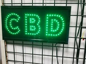 Cbd For Business Led Neon Sign smoke Shop window Store Sign Display