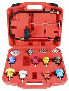 14pc Radiator Pressure Tester Kit Cooling System Test Detector Tool