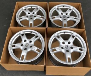 18 Porsche 987 Boxster S Cayman Oem Factory Genuine Original Set Wheels Rims 18