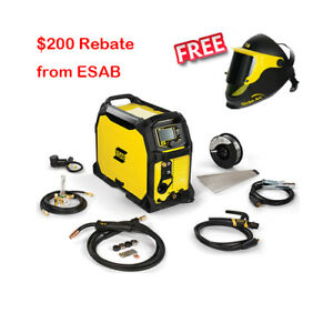 Esab Rebel Emp 235ic Multiprocess Welder 3in1 Pkg 0558012702 free Esab Helmet