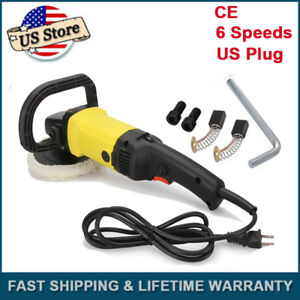 7 Variable 6 Speeds Electric Car Furniture Disc Polisher Buffer Tools Portable