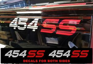 Side Bed 454 Ss Decals 1500 Chevy Ss Silverado Trucks Bed Vinyl Stickers