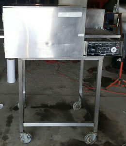 Lincoln Impinger 1132 Electric Commercial Pizza Oven 18 Conveyor Stand 208 Volt