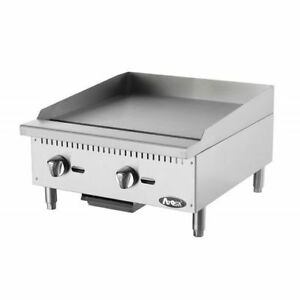 New 24 Flat Griddle Manual Control Commercial Restaurant Duty Nat Or Lp Gas