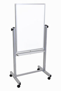 Offex Whiteboards 24 w X 36 h Double Sided Reversible Magnetic Whiteboard