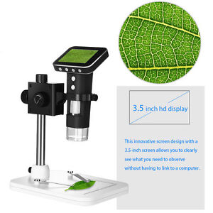 1000x 8 Led Lights Digital Inspection Microscope Camera Magnifer Usb Charging Us