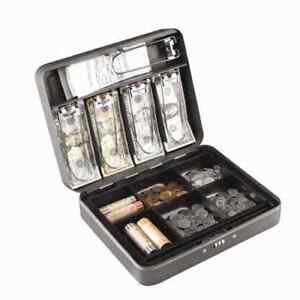 Steelmaster Cash Box With Combination Lock And Handle Gray New 2216190g2