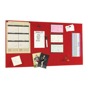 Steelmaster Magnetic Board W dry erase Pad Pen Magnets 14 x30 red 270163007