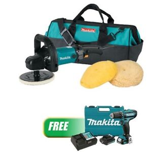 7 Polisher Kit W Wool Pads W 12v Max Cxt Lithium Ion Cordless 3 8 Driver D