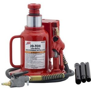 20 Ton Low Profile Air Hydraulic Bottle Jack Atd 7372 Brand New