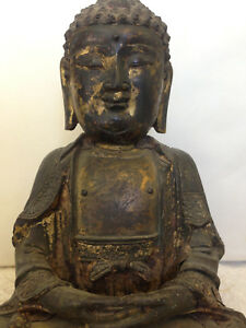 Old Chinese Gilt Bronze Buddha Statue Ming Dynasty