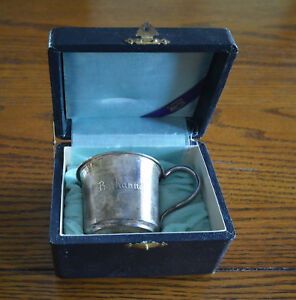 Vintage K Uyeda Japanese Sterling Silver Baby Cup Bethanne With Case