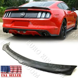 For 15 19 Ford Mustang Carbon Fiber H Style Rear Trunk Boot Performance Spoiler
