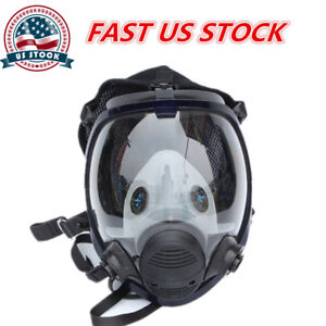 6800 Full Face Large Vision Gas Mask Facepiece Respirator Painting Spraying