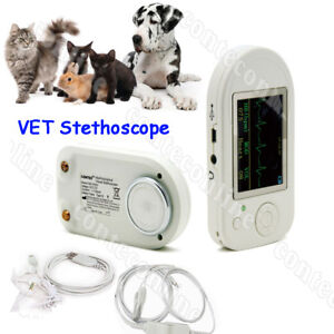 Veterinary Multi function Visual Electronic Stethoscope Ecg spo2 Probe Cms vesd