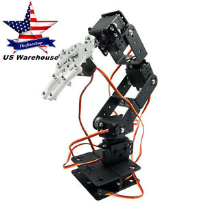 Hand Robot 6dof Arm Mechanical Robotic Arm Clamp Claw Mount Kit For Arduino Us
