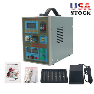 788h Led Dual Pulse Spot Welder 18650 Battery Charger 800a 0 1 0 2 Mm 36v 60a Us