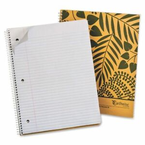Earthwise Oxford 2 Subject Notebook 11 X 8 7 8 College Rule Kraft 100 Sh