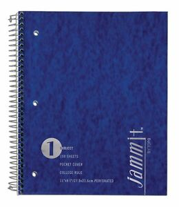Tops Jammit Pocket Cover Notebook 1 Sub 11 X 8 1 2 College Rule 24 ct