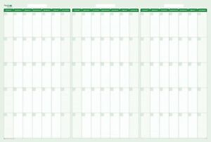 Earth Green 90 day Dry eraseable Wall Planner 32 In X 48 In