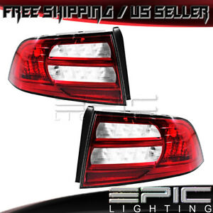 2004 2008 Acura Tl Red White Lens Rear Brake Tail Lights Left Right Pair