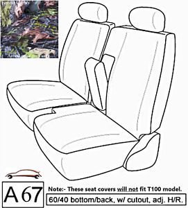 A67 Cm Toyota Tacoma Rcab Xcab Front 60 40 Split Bench Custom Exact Seat Covers