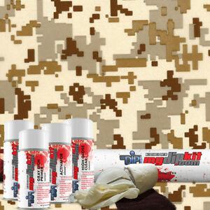 Hydrographic Film Dip Kit Hydro Dipping Water Transfer Print Desert Camo Mc231