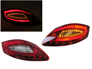 981 Look Red Clear Light Bar Led Tail Light For 05 08 Porsche Boxster Cayman 987