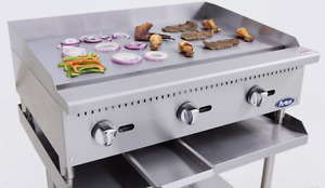 New 36 Flat Griddle Manual Control Commercial Restaurant Duty Nat Or Lp Gas