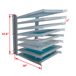 Screen Printing Equipment Aluminium Wood Screen Frame Storage Rack Free Ship